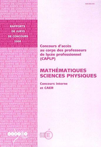 CAPLP Mathématiques Sciences Physiques : Concours interne et CAER