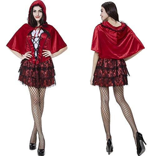 Rotkäppchen-Kostüm-Set für Damen / Damen reizvolles Abendkleid (Männer Kostüm Catrina)