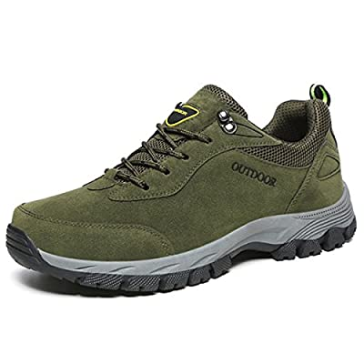 gracosy Men's Hiking Trekking Shoes Mens Trainers Lace-up Lightweight Hiking Boots Low Rise Walking Shoes Anti-Slip Climbing Trail Running Shoes Breathable Outdoor Sports Camping Sneaker