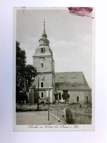 Postkarte: Kirche zu Cotta bei Pirna i. Sa.