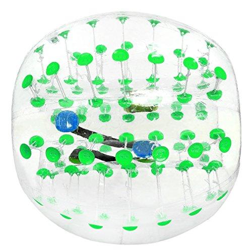 1,2m humanos aldaba bola, 3way sistema de seguridad hinchable Bumper Parachoques, balón de fútbol, hámster humanos balones de burbujas, burbujas, Zorbing llamador de bola, bola, bola de Loopy, verde