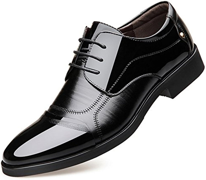 Yr-r Zapatos De Cuero De Los Hombres De Negocios Derbys Zapatos Con Cordones Transpirables Punta Estrecha Para... -