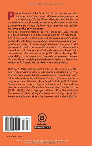 Pensamiento político e historia: Ensayos sobre teoría y método (Universitaria)