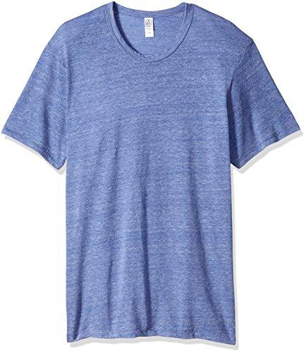 Alternative eco-heather à manches courtes col rond T-shirt pour homme Eco Pacific Blue
