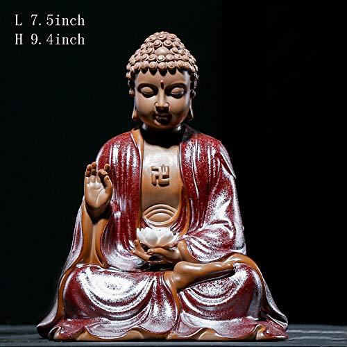 Estatuas Escultura,Figurilla Día Grande Buda carácter Decoración de la cerámica Artesanal Estudio...