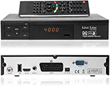 Live Line HD 1001Plus HDTV-Receptor satélite digital (HDTV, DVB-S2, HDMI, SCART, USB 2.0, Full HD 1080p, pantalla LED) [Inevitable]-Negro