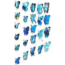 Adhesivos 3D decorativos para pared, diseño de mariposas.