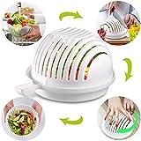 Die Schale für Salat, Salat die Schöpfer, Salad Cutter Bowl, kyerivs Vegetable Salad Cutter Maker Bowl
