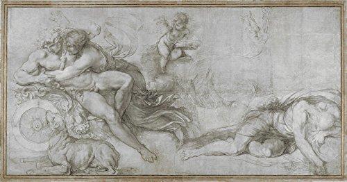 Das Museum Outlet-Agostino Carracci-KEPHALOS getragen von Aurora in ihrem Chariot, gespannte Leinwand Galerie verpackt. 29,7x 41,9cm