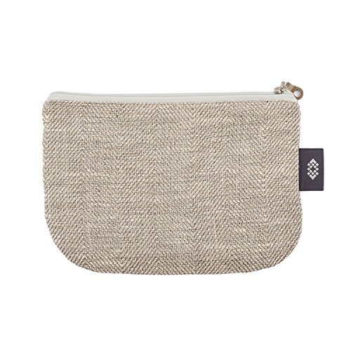 Kleine weiße Geldbörse Kosmetiktasche - Doppellagige 100% Leinen - Geldbeutel - iPhone Hülle - Kleine Make-up Tasche - Reisetasche - Reißverschluss Tasche | Handgefertigte durch ThingStore (Handgefertigte Taschen Geldbörsen)