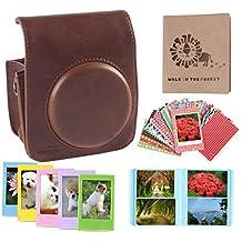 [Combinación 5 en 1 Fujifilm Instax Mini 70 Caso] - YILON Protección Integral Instax Mini 70 caja de la cámara del bolso con PU suave material de cuero