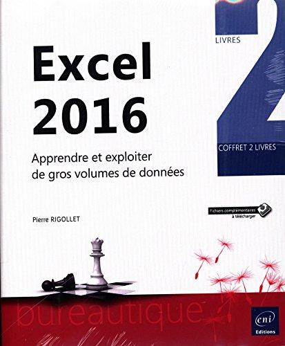 Excel 2016 - Coffret de 2 livres : Apprendre et exploiter de gros volumes de données