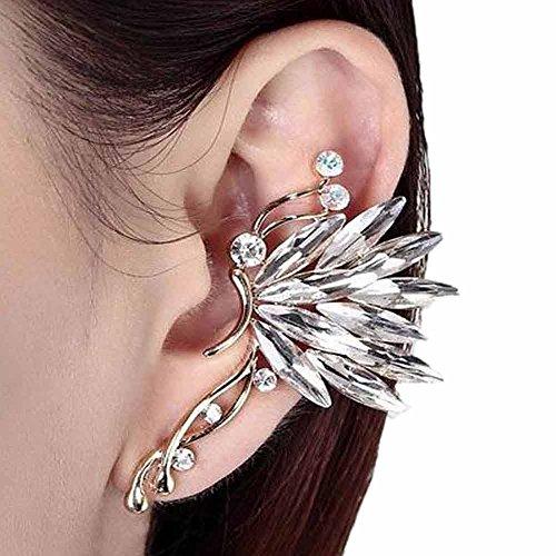 MRULIC One Pair Ohrring/Ohrstecker Umwandler zum Ohr-Clip Rosa, Weiß, Grün und Silber