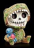 Furrybones Figur | T-Rex Tyrannosaurus Rex | inkl. Geschenkbox für Sammler | Lustige Deko Totenkopf Gesicht