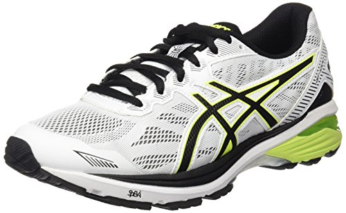 ASICS Men's Gt 1000 5 Running Shoes, (WhiteSafety YellowBlack), 9 UK