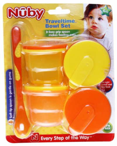 Nuby Micro Traveltime bowl Set (Multicolor)