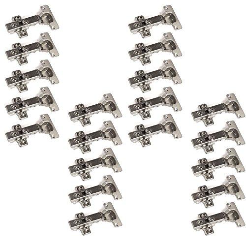 20 x SO-TECH® Topfband Topfbänder T52 Eckanschlag mit Dämpfer + Kreuzplatte Scharnier Scharniere Topfscharniere (Einzeln und als 6er, 10er, 20er oder 30er Set erhältlich!)