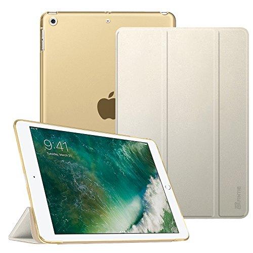 Fintie iPad 9.7 Zoll 2017 Hülle - Ultradünn Superleicht Schutzhülle mit transparenter Rückseite Abdeckung Cover Case mit Auto Schlaf / Wach Funktion für Apple iPad 2017 Neue Modell, Champagner Gold (Generation Gb 1. Ipad 64)