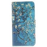 Anlike Lederhülle Leder Tasche Case für Samsung Galaxy Note 5 /SM-N9200 (5,7 Zoll) Hülle PU Leder Flip Brieftasche Schutzhülle Wallet Cover Handytasche Schutzhülle Handy Zubehör Handyhülle mit Bookstyle mit Standfunktion Kredit Kartenfach für Samsung Galaxy Note 5 /SM-N9200 (5,7 Zoll) - Almond Blossom