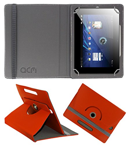 Acm Rotating 360° Leather Flip Case for Karbonn Smart Tab 3 Blade Cover Stand Orange  available at amazon for Rs.149