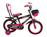 #6: NY Bikes Hitman14Pink Steel Kids' Bicycle, 14 inches for 3 to 5 years (Pink and Black)