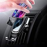 Chargeur Sans Fil Auto Voiture, Chargeur Auto sans Fil à Induction, Qi Air Vent Mount Voiture Chargeur Induction pour iPhone X / 8/8 Plus, Samsung Galaxy S8 / S8 Plus/ S7/ S7 Edge/ S6 Edge/Note 5