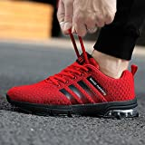 Privat: KUDOON Laufschuhe Herren Mesh Fitnessschuhe Atmungsaktiv Rutschfeste Mode Sportschuhe Training Sneakers Unisex Rote 44 - 5