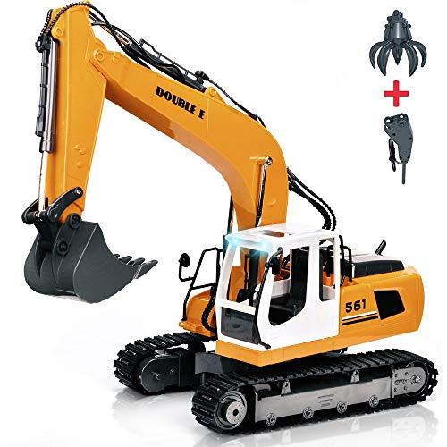 RC Auto kaufen Baufahrzeug Bild: KEISL 3-in-1 Ingenieurmaschinen-Auto, RC Bagger, Fernbedienung, Traktor, Spielzeug, Baufahrzeuge*