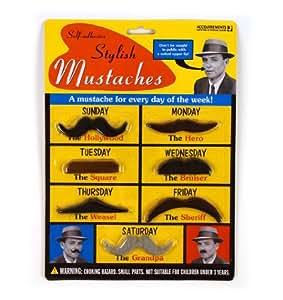Stylish Mustaches 7-Bärte-Set Anklebebärte