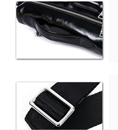 LAIDAYE Männer Schultertasche Herren Handtasche Herren Tasche Business Brief Blue