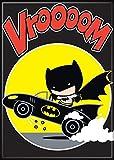 Ata-boy DC Comics Chibi Batman avec Batmobile 6,3x 8,9cm Aimant pour développement et casiers