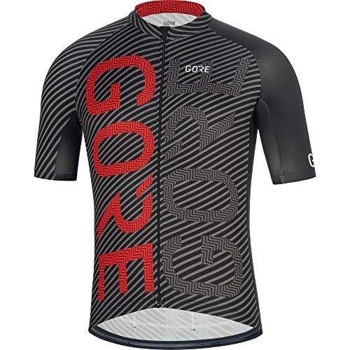 Gore Wear Herren GORE C3 Brand Trikot Black/Red, M -