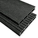 tuduo WPC Terrassendielen mit Zubehör 10m² 2,2m anthrazit Größe 400x 15x 2,5cm (L x B x H)