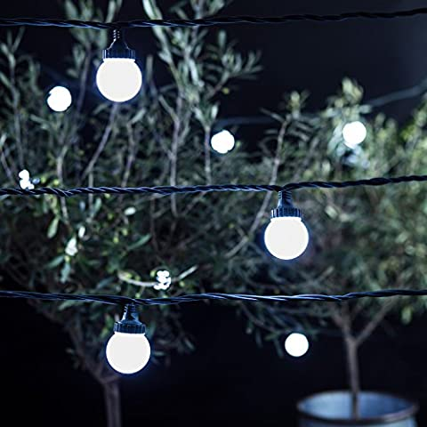 10 Cool White LED Outdoor Connectable PRO Series Festoon Party