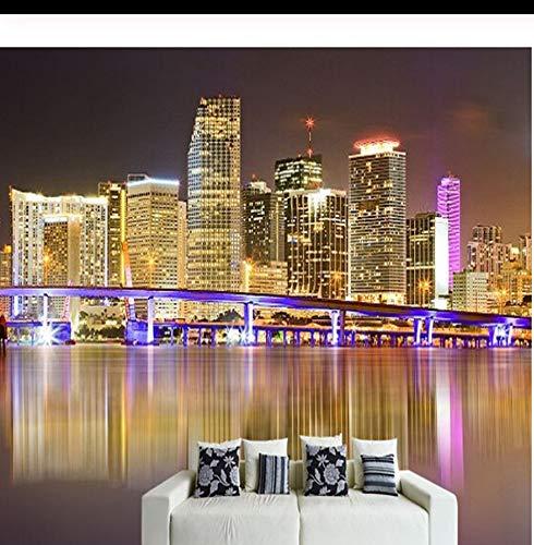Art-Deco-Tapete zeitgenössische Wandverkleidung, stereoskopische Leinwand großes Wandbild Schöne Meerblick Zimmer Tapetenwandbilder-400X280CM