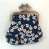 Porte monnaie avec tissus Liberty of London modèle 2 tissus, fermoir de 8.5cm