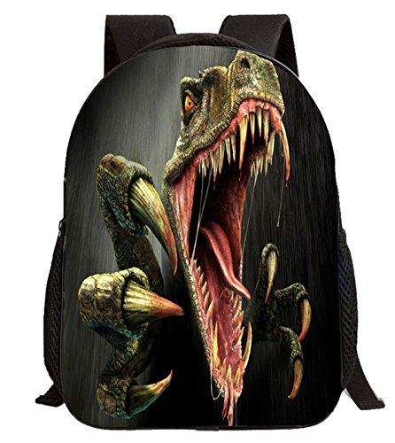 Imagen de happy cherry 3d animal  dinosaurio estampado bolso infantil para niños niñas escuela guardería, patrón 3