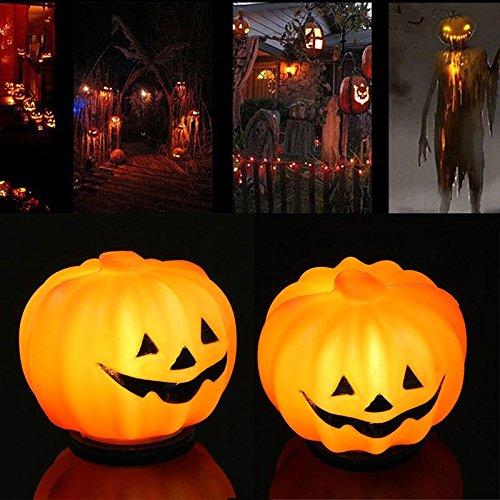 calistousde Halloween K ¨ ¹ rbis de farol Naranja LED de luz de lámpara festival de inicio St ¨ ¹ Tze de decoración pequeñas