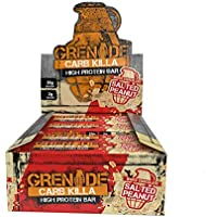 Grenade Carb Killa High Protein and Low Carb Bar, 12 X 60 g - White Chocolate Salted Peanut, 12 Bars