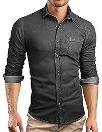 Grin&Bear custom Denim fit Hemd Shirt Herrenhemd Jeans, SH591