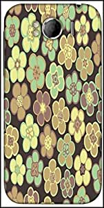 Snoogg Seamless Floral Pattern Flowers Texture Daisy Designer Protective Back Case Cover For HTC Sensation Xl