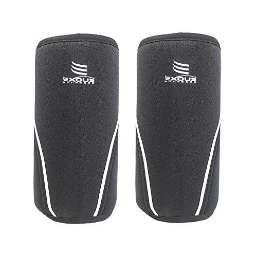 Kniebandage 7 mm Kniebandage [1 Paar ] Neopren Kompression Unterstützung für Kniebeugen, Gewicht/Power Lifting cross-fit - 12 Monate Geld zurück Garantie XL