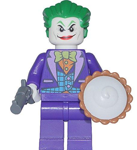 Pistole Lego Revolver (LEGO Batman Super Heroes: Minfigur Joker mit LEGO Torte, Pistole und Dynamit aus dem Set 76035 NEU)