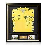 Exclusive Memorabilia Maglia Gialla Tour de France 2018 Firmata da Geraint Thomas. Incorniciato