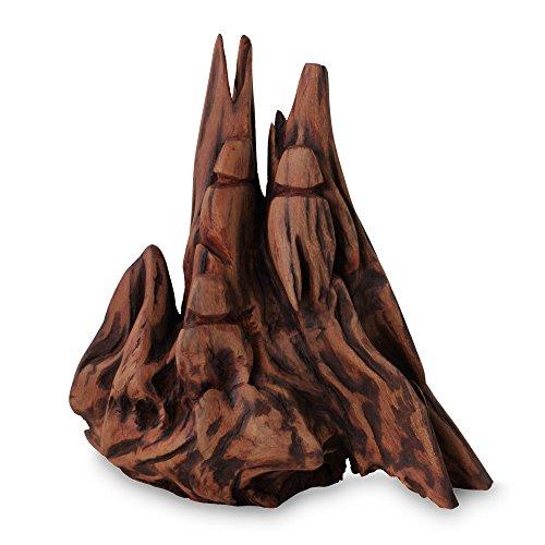 Novica 557.593,5cm Love of Friends II wieder Holz Skulptur