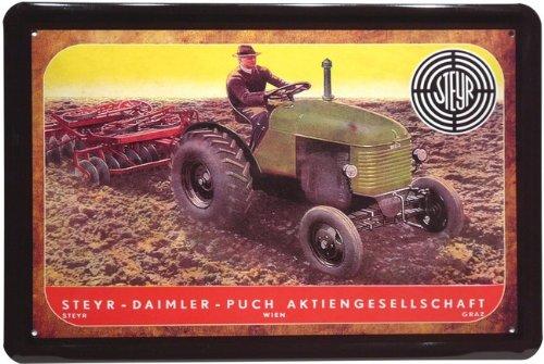 targa-in-metallo-trattore-steyr-pubblicita-daimler-puch-20-x-30-cm-retro-targa-in-741