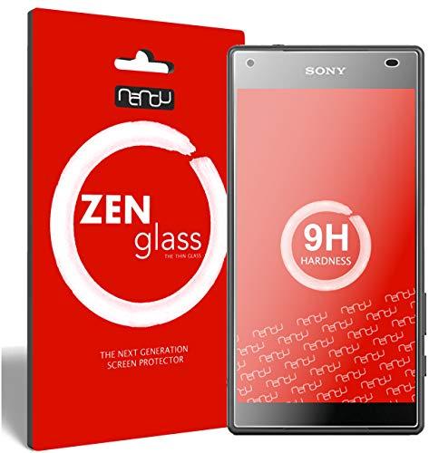 ZenGlass (2 Stück Flexible Glas-Folie für Sony Xperia Z5 Compact Panzerfolie I Display-Schutzfolie 9H I (Kleiner Als Das Gewölbte Display)