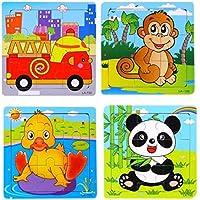 Preisvergleich für Kinder Cartoon Puzzle Holz Puzzle Spielzeug Kreative Frühkindliche Bildung Tiere Spielzeug