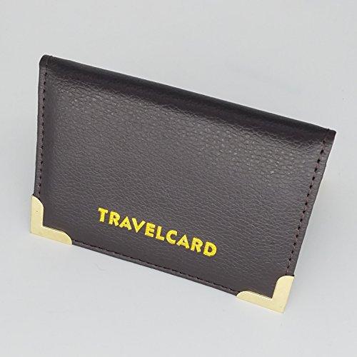 Carte da viaggio in pelle morbida per carta di credito, Oyester by Gnenterprises Brown