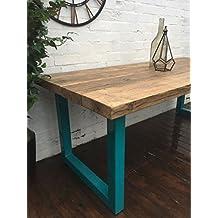 Chunky U-frame mesa de comedor–estilo industrial (185x 80x 75)